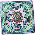 pastel stamp