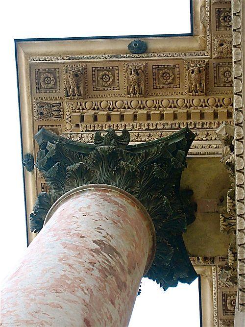 Ornate column outside the Louvre