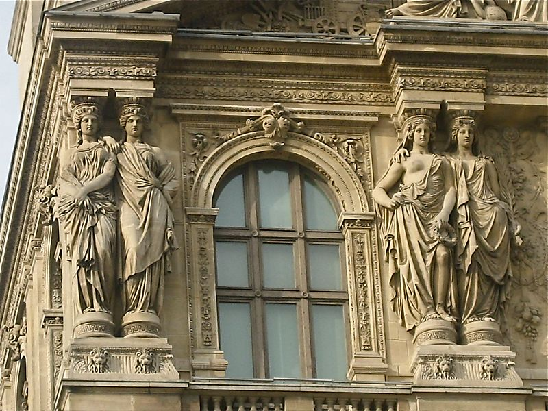Detail on the Louvre building