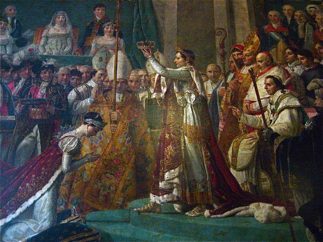 Painting Napoleon Crowning Josephine