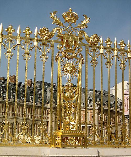 Gilded fence around Versailles