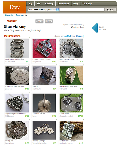 Metal clay treasury by Lora Hart