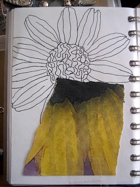 Patternjournlsunflower