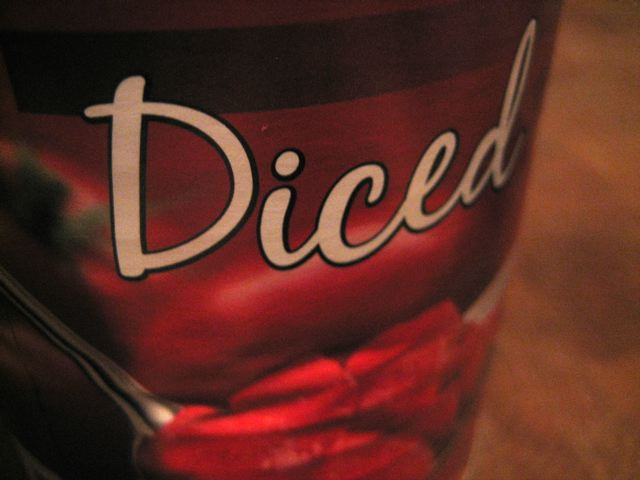 I said diced