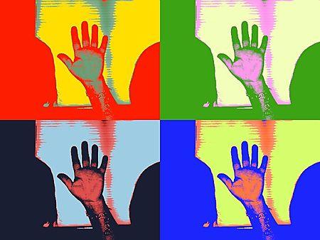 Me waving