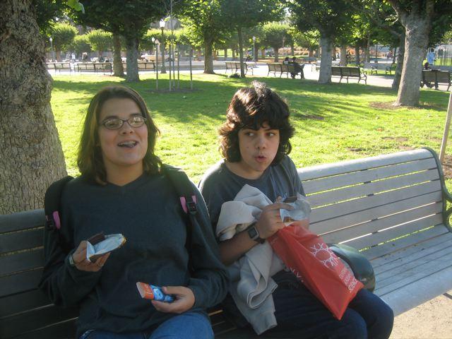 My kids eating chocolate