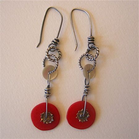 Coralsplats earrings