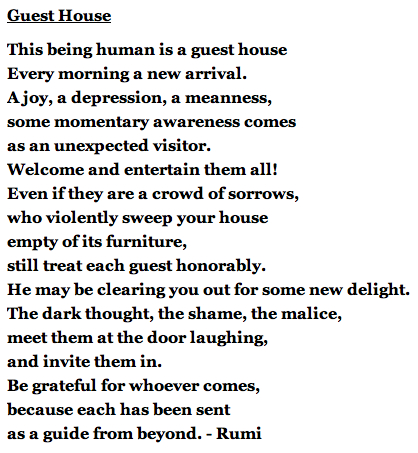 Guest House Poem - Rumi