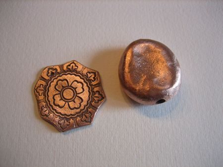 Copper clay pieces