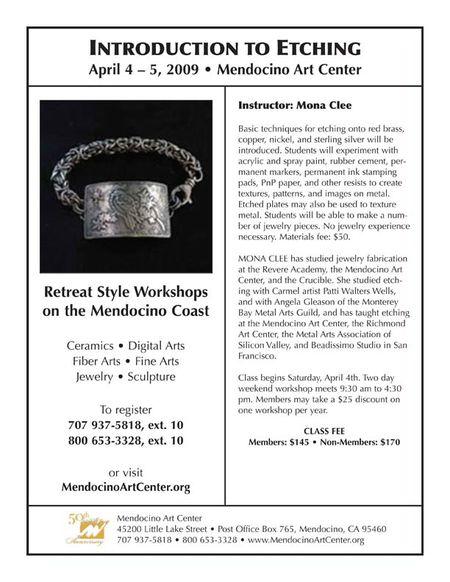 Mona Clee Mendocino Class April 4-5
