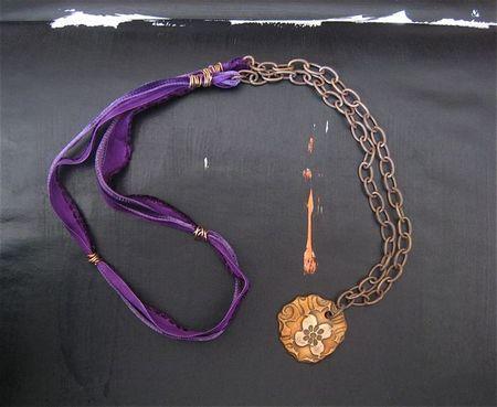 Purple velvet with bronze