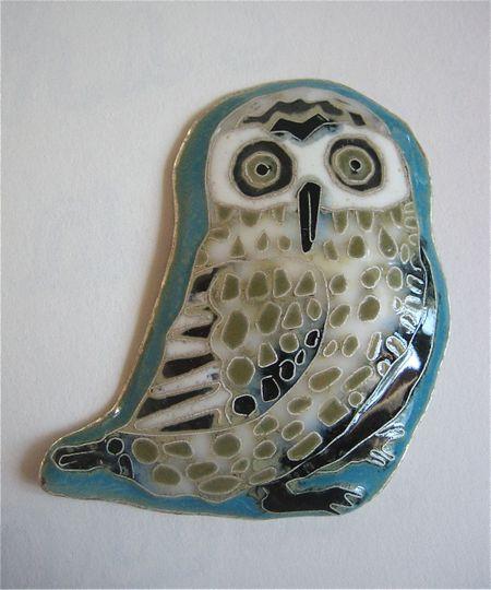 Cloisonne owl