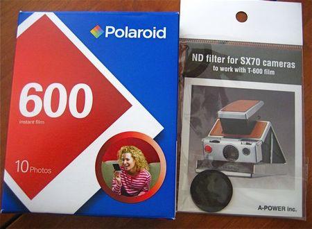 Polaroid 600 film & filter