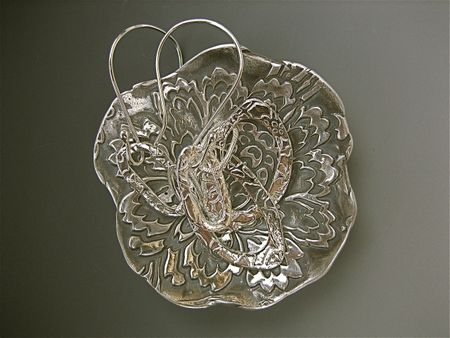 Earringsin bowl