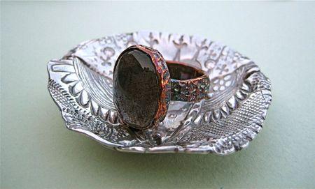 Labradorite ring inbowl