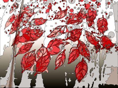 Fingerprint leaves boosted color