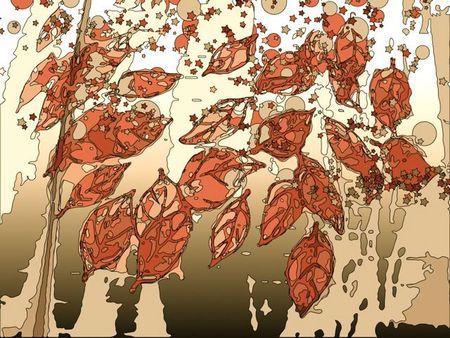 Fingerprint leavesantique