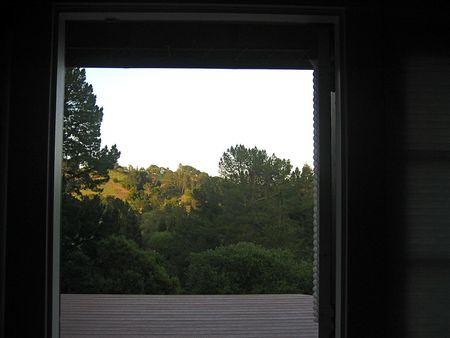 Open door to deck