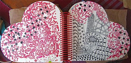Zentangle spread