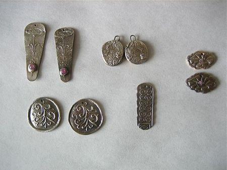 Class earrings