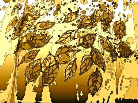 Fingerprint leaves sepiacontrast