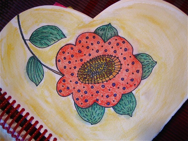 Flower painted
