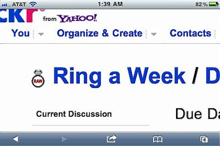 Ring a Week:Flickr