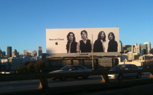 Beatles on billboard