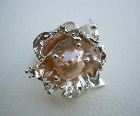 Druzy pearl close-up