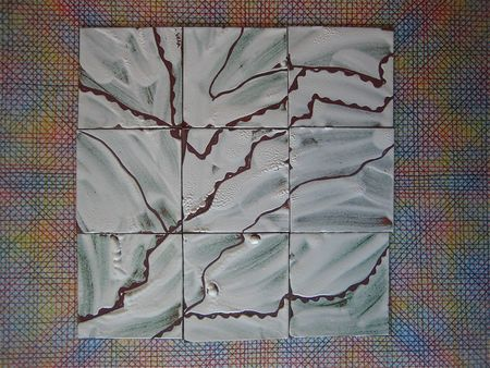 Enameled tiles step one