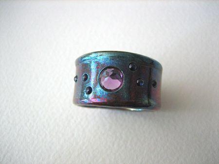 Alexandrite & sapphires:blue patina