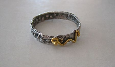 Reticulated sterling oxidized