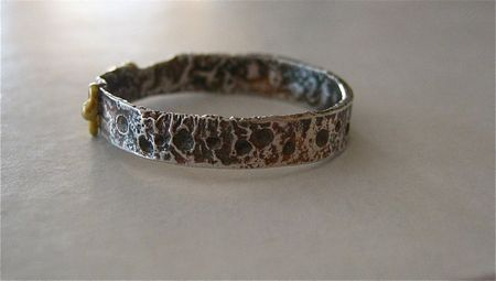 Reticulated sterling back view