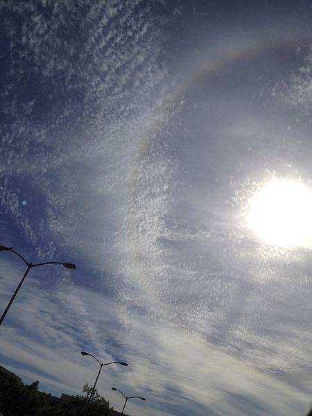 Circular rainbow on a sunny day 12x16