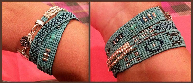 Bead bracelet front & back 15x6.5