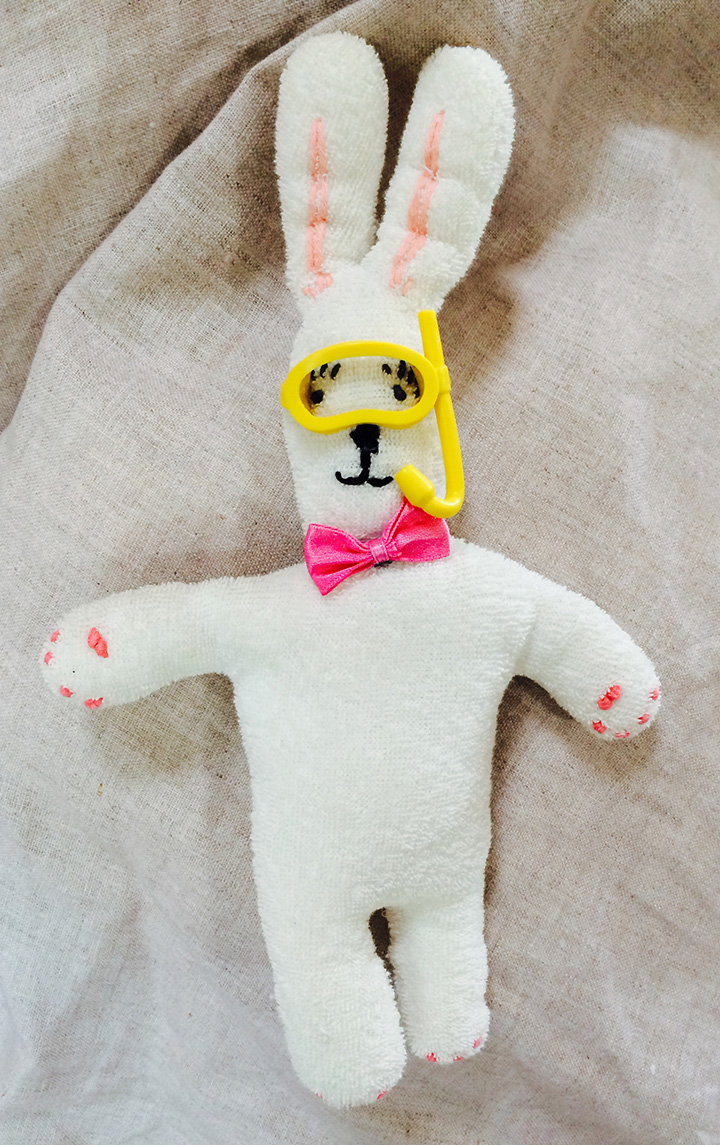 I sewed a bunny for my first child 10x15.9