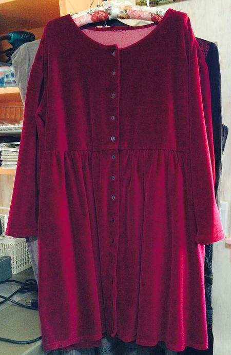 Red velour dress 10x16