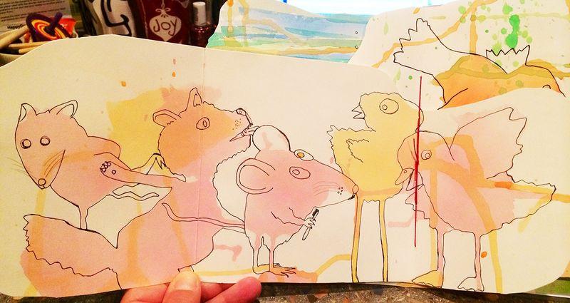 Blob animal party 18x9.5