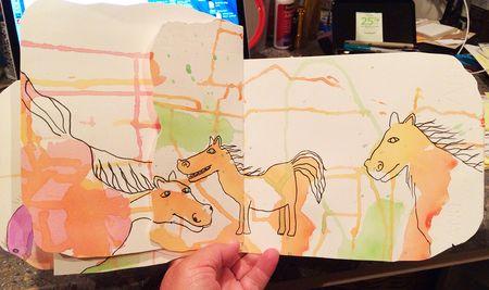 Blob horses 17x10