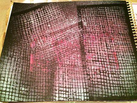 Spray & stencil black 16x12