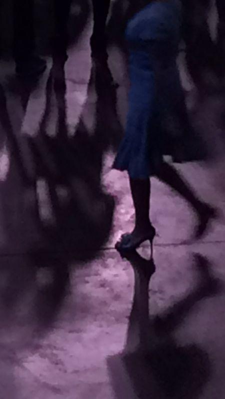 Concert 2 purplr floor blue dress 8.8x15.7