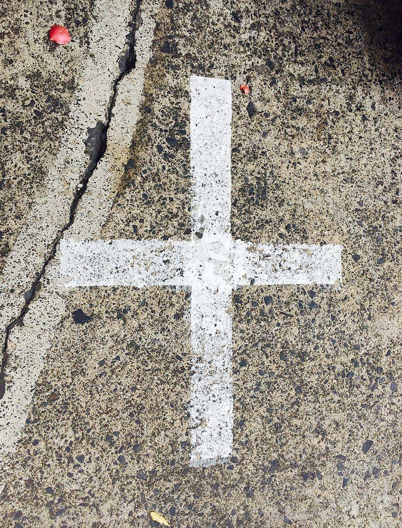 Street cross 16x21