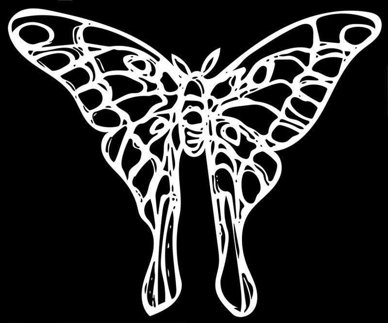 Wire luna moth c inverted vector image 12.9.9