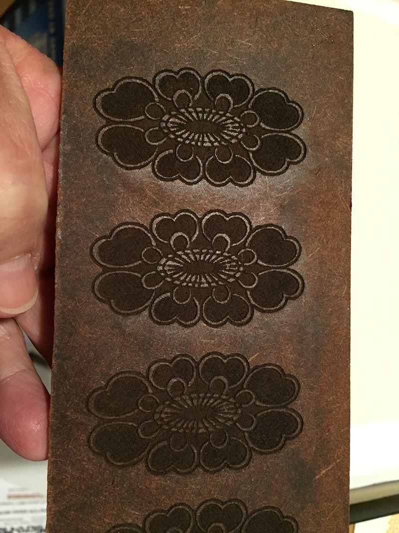 8 the plate pattern cut from masonite 12x16