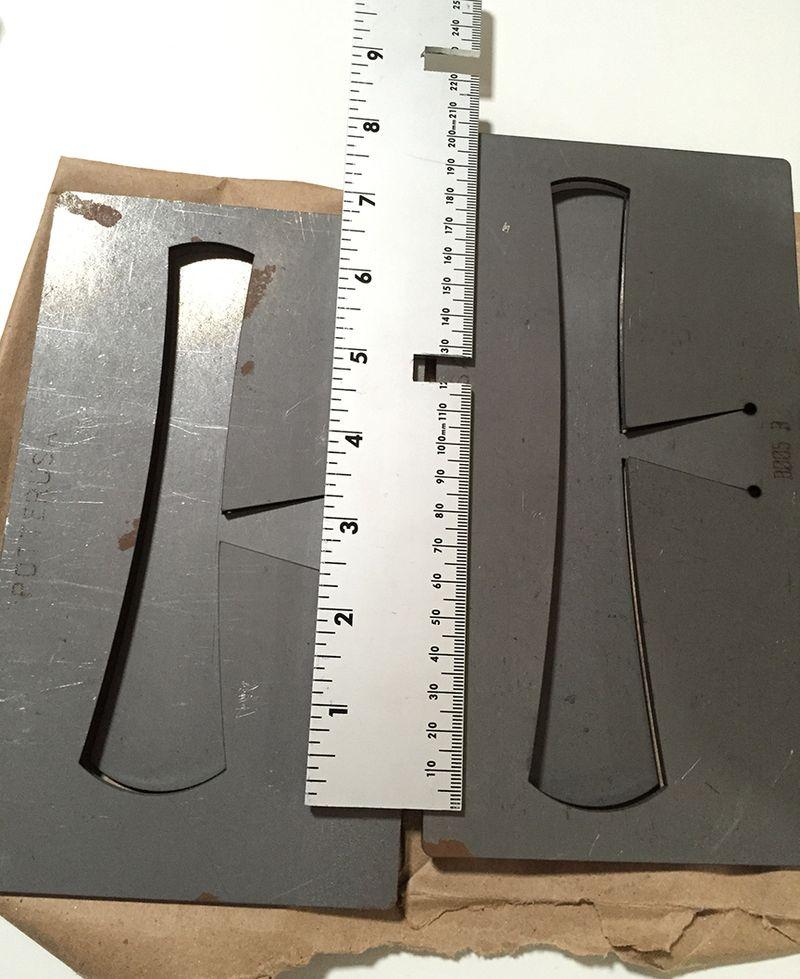 Blanking cuff shapes 12x14.6