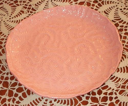 pink flower platter
