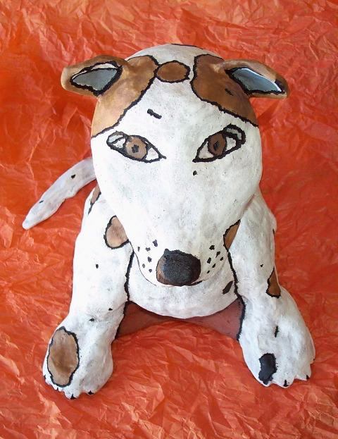 sculpture of my dog Lucky