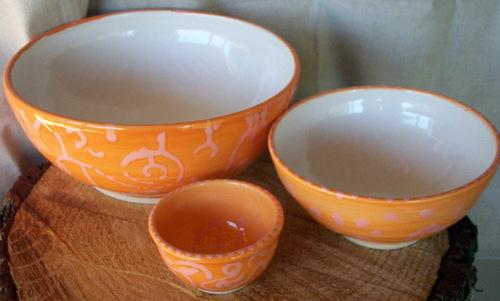 Orange & pink bowls